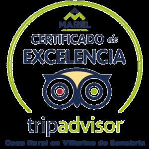Certificado de Excelencia Tripadvisor en Villarino de Sanabria